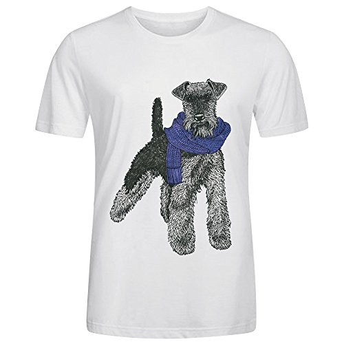 welsh-terrier-purple-crew-neck-t-shirts-for-man-white