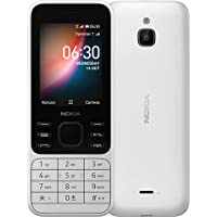 هاتف نوكيا 6300 ثنائي شرائح الاتصال بذاكرة رام 4 جيجا وذاكرة داخلية 512 ميجا واتصال جيل رابع ال تي اي، ابيض