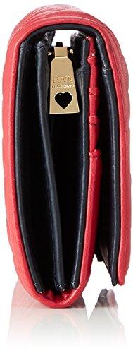 Nappa Portafogli Trap Pu Love Red Pochettes Moschino Rouge 4Uax7