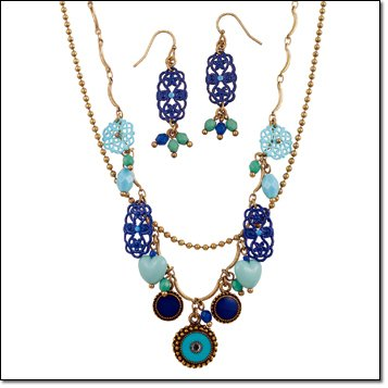 Blue Charmy Necklace Giftset