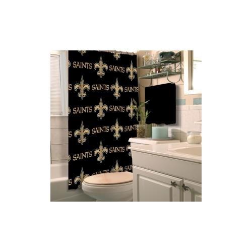 Saints Bathroom Set: Saints Shower Curtains, New Orleans Saints Shower Curtain