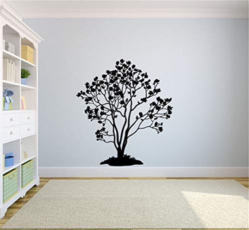 (iopada Wall Stickers Art Decor Decals Inspired Tree Magnolia Tree Silhouette for Living Room or Bedroom Home)