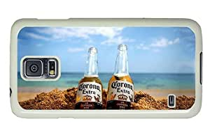 Hipster Samsung Galaxy S5 Case personalized cases corona extra beer PC White for Samsung S5