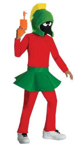 Marvin The Martian Girl Child Costumes (Marvin the Martian Child's Costume - One Color - Medium)