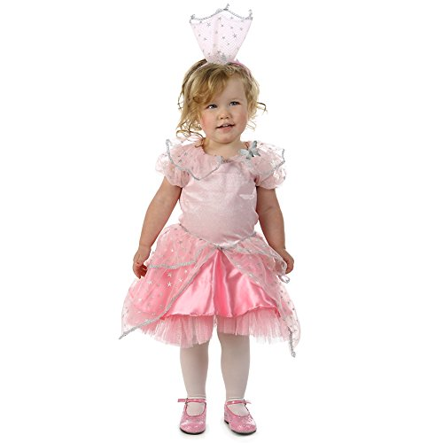 Baby Girls Pink Princess Glinda Sparkle Star Trim Halloween Costume 18-2T (Glinda Toddler Costume)
