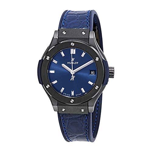Hublot Classic Fusion Blue Dial Ladies Watch 581.cm.7170.LR