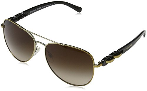 - Michael Kors MK1015 112813 Gold-Tone Pandora Pilot Sunglasses Lens Category 3 S