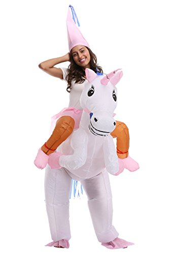 Adult Funny Inflatable Animal Piggyback Costume for Halloween, Birthday Party (7 Other Characters) ()