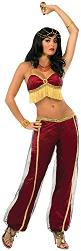 Forum Novelties Women's Ruby Dancer Costume, Red/Gold,