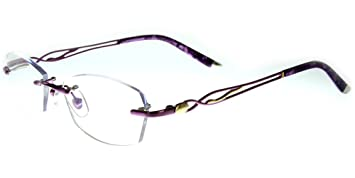 ae36d0d8d62 Aloha Eyewear Tek Spex 3001 Women s Progressive No-Line Rimless Computer Reading  Glasses with Blue