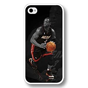 (TM)- Customized Personalized White Hard Plastic Case For Samsung Galsxy S3 I9300 Cover Case, NBA Superstar Miami Heat Dwyane Wade Case For Samsung Galsxy S3 I9300 Cover case, Only Fit Case For Samsung Galsxy S3 I9300 Cover case