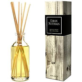 Urban Naturals Tart Grapefruit Reed Diffuser Oil Set | Fresh Citrus Scented Fragrance Oil | Bergamot Essential Oils & Tart Greens | Home Gift Idea. Vegan.