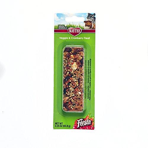 Kaytee Fiesta Hamster - Kaytee Fiesta Veggie Cranberry Treat Stick for Small Animals, 2.25-oz
