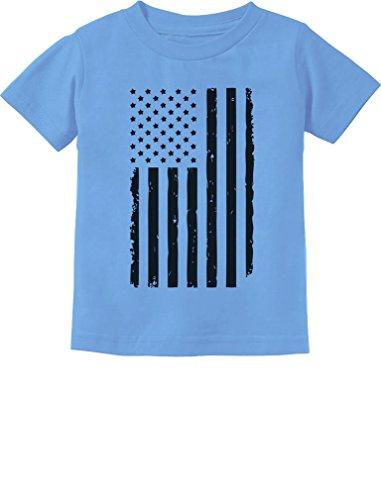 TeeStars - Big Black Distressed U.S Flag 4th of July Toddler/Infant Kids T-Shirt