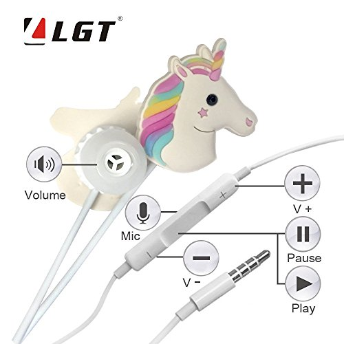 2ccb3ec9070 Unicorn Earphone 3D Cute Animal Best gift In-Ear Earbuds Headphones  suitable to Remote and Mic for A