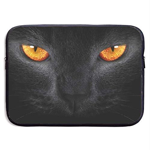 CHJOO Laptop Sleeve Bag Cool Black Cat Head 13/15 Inch Brief