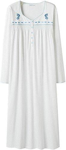 Keyocean Nightgowns for Women 100% Cotton Soft Warm Comfy Women Sleepwear Lounge-wear for fall iciness
