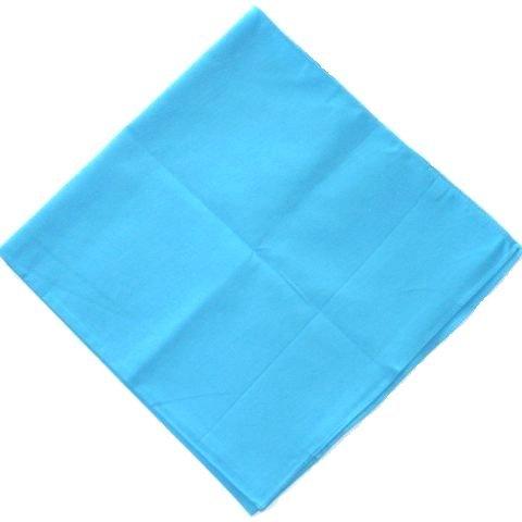 plain TURQUOISE BLUE cotton bandana headscarf
