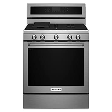 KitchenAid KFGG500ESS 5.8 cu. ft. Gas Range with Self-Cleaning Oven in Stainless Steel