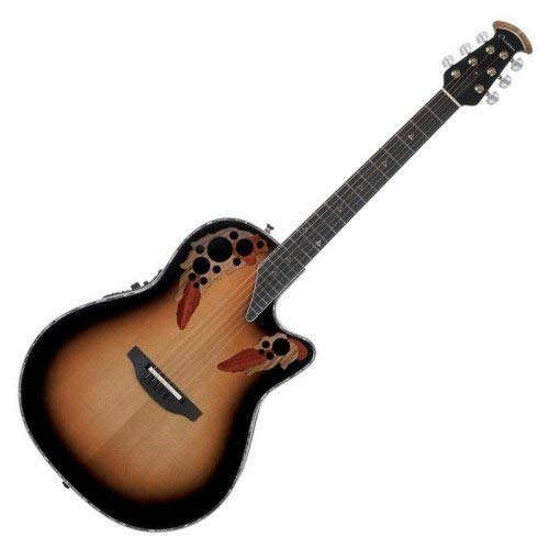Ovation American LX Series 6 String Acoustic-Electric Guitar Right, Sunburst C2078LX-1 ()