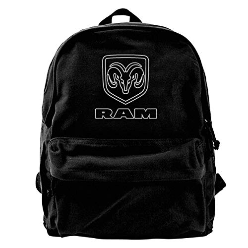 Hong Yi Fang Unisex Fashion Travel Backpack Ram Trucks Dodge Logo Cute Lightweight Water-Resistant Computer Bookbag Casual and Durable College Backpack Notebook Computer Backpack