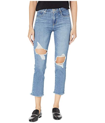 Levi's Women's 724 High Rise Straight Crop Jeans, Good Measure, 24 (US 00)