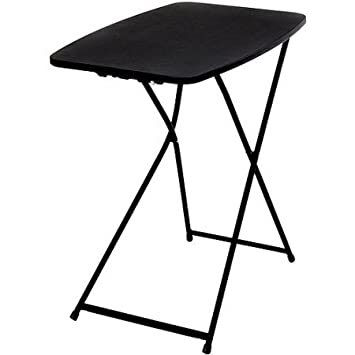 Mainstays 26 Personal Folding Table, Black 1