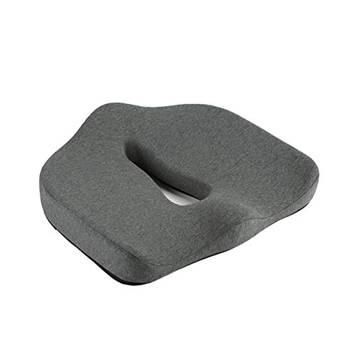 (Automotive Seat Cushions Car seat Cushion Office seat Cushion Memory Foam pad Anti-Hemorrhoids Reduce Hip Pressure Soft and Comfortable Refreshing and Breathable (Color : Gray))