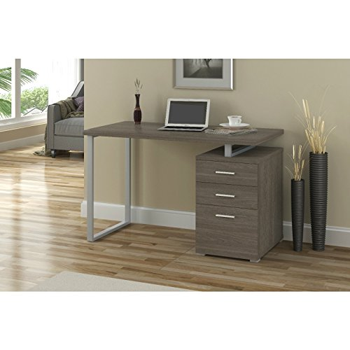 Overstock Vintondale Writing Desk, Dark Taupe by Overstock