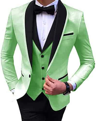 31fb7419c0ae DGMJ Men Suits Slim Fit 3 Piece Formal Dress for Prom 2019 Mens Wedding  Suits Tuxedo