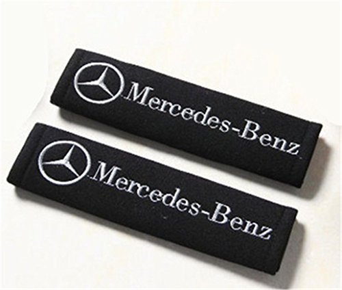 - Seat Belt Shoulder Pads Strap Harness Covers Cushions (Pair / Set) For Mercedes Benz Cars