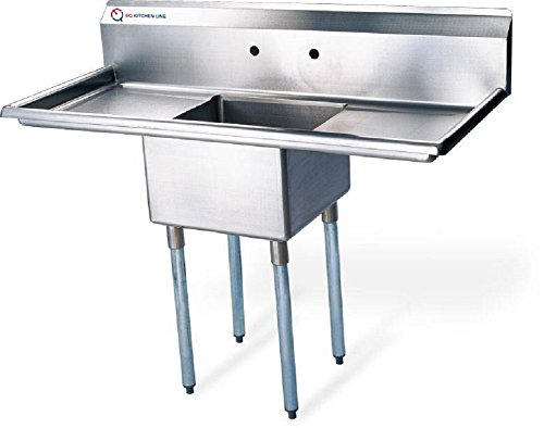EQ Compartment Sink Kitchen Commercial Stainless Steel Silver 38