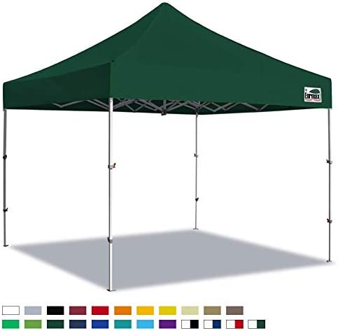 Eurmax New 10×10 Super Compact 40″ High Storage Size Canopy Tent