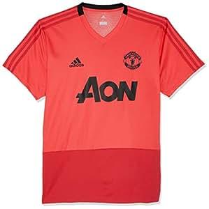 adidas Manchester United FC Entrenamiento Manga Corta Sudadera, Hombre, CW7609, Core Pink/Blaze Red/Black, Medium