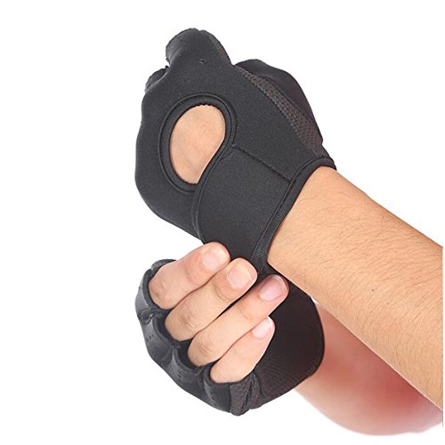 Sports Fitness Gloves/ Half Finger Protecting Palm/ Dumbbells/ Weights/ Anti Slip/ Tug Of War/ Rowing/ Riding/Mountaineering/ Men's Women's Protective Gear
