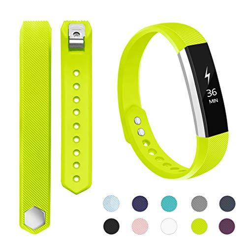 Alto Fluorescent - POY Compatible Bands Replacement for Fitbit Alta/Fitbit Alta HR, Adjustable Sport Wristbands for Women Men, Large Fluorescent Green