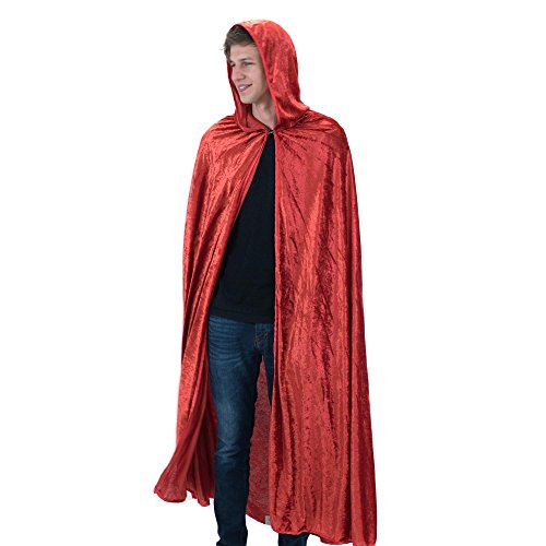 Everfan Red Hooded Cape | Cloak with Hood