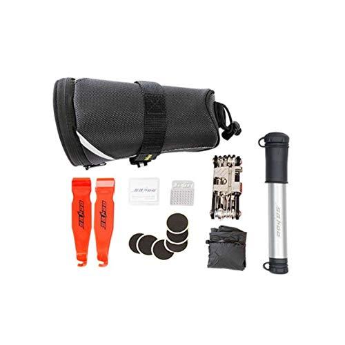 - anyilon Bicycle Cycling Mountain Bike Road Bike Tire Repair Kit Tire Patch Combination Tool Tail Bag Portable Pump Saddle Bag