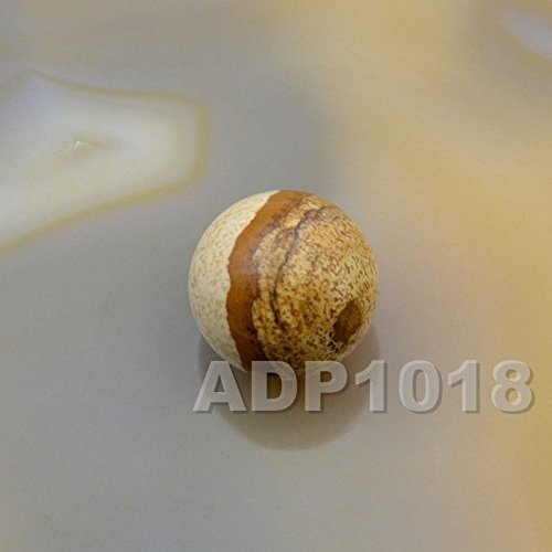 (AD Beads Natural Gemstone Round Ball Crystal Healing Sphere Rock Stones Decor Massage 16mm (10 Pcs, Picture Jasper))