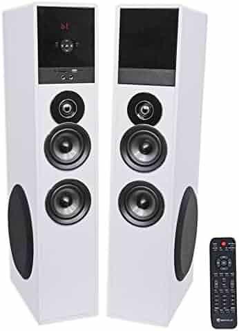Rockville TM80W Bluetooth Home Theater Tower Speaker System w/(2) 8
