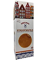 Le Chic Original Stroopwafels Toasted Waffles Filled with Caramel 30 Pc 1.99 LB