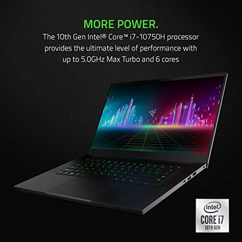 Razer Blade 15 Base Gaming Laptop 2020: Intel Core i7-10750H 6-Core, NVIDIA GeForce GTX 1660 Ti, 15.6″ FHD 1080p 120Hz, 16GB RAM, 256GB SSD, CNC Aluminum, Chroma RGB Lighting, Thunderbolt 3, Black 41rltVq8mgL