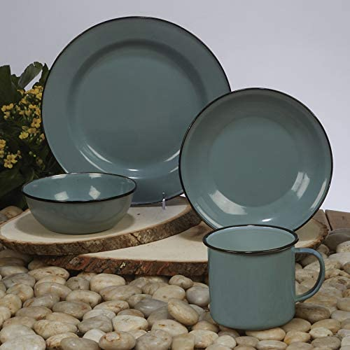 Set of 6 One Size Multicolor Certified International 22943SET6 Enamelware Teal 26 oz Mug