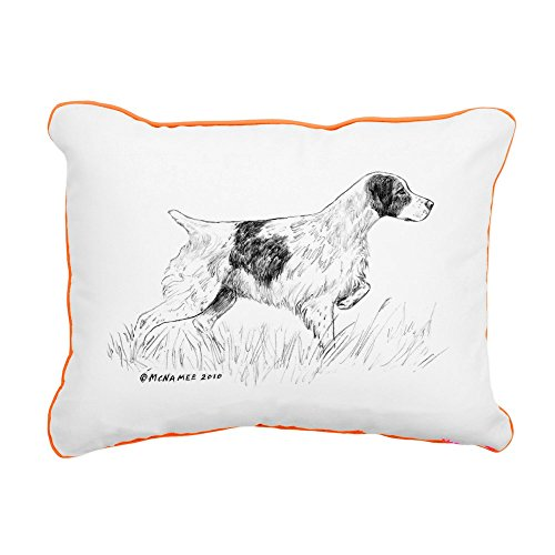 "CafePress - Brittany Spaniel - 12""x15"" Canvas Pillow, Throw"