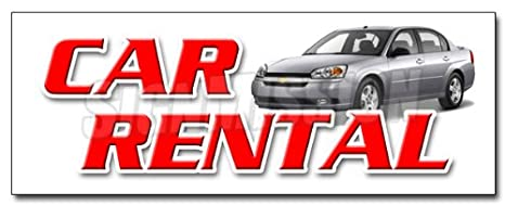 Amazon Com 48 Car Rental Decal Sticker Auto Rent Daily Weekly