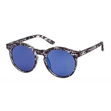 Sonnenbrille Panto große Round Glasses dünne Metallbügel 400 UV vKvzwO