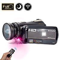 Videocámara con espectro completo Wifi 2018, videocámara de investigación paranormal infrarroja con visión nocturna infrarroja 1080P Full HD 30FPS con grabadora de video Zoom digital 18X - Cámara de caza fantasma