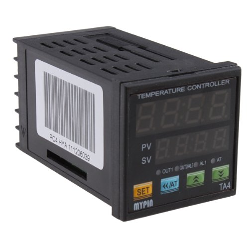 AGPtek® Dual Digital Display PID Temperature Controller SSR(2 Alarms)