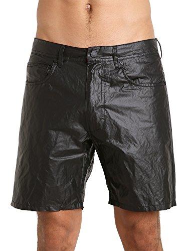 Diesel Men's BMBX-Waykeeki-F Faux Leather Coating Water Denim, Black, Small by Diesel