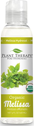 Plant Therapy Melissa Organic Hydrosol 4 oz (Flower Water) By-Product of Essential Oils